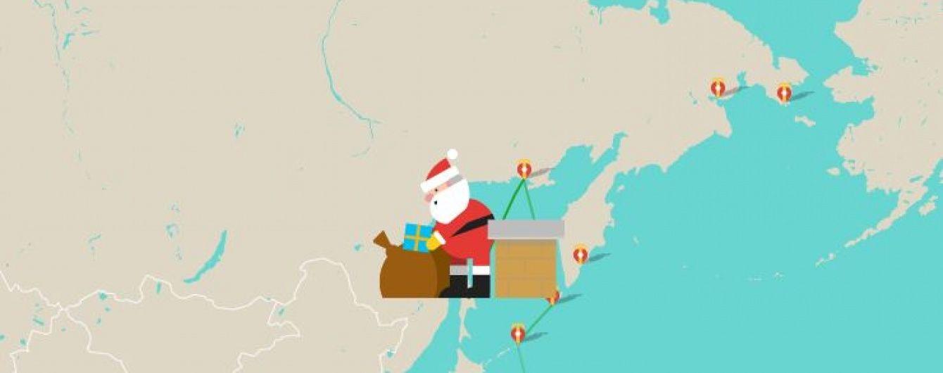 Google запустив карту подорожі Санта-Клауса