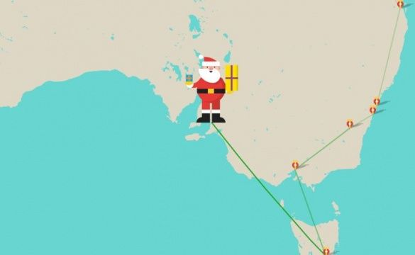 Санта Клаус подорожує світом
