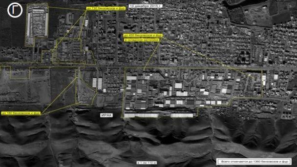 У Генштабі РФ показали фото тисяч бензовозів на кордоні Туреччини та Іраку