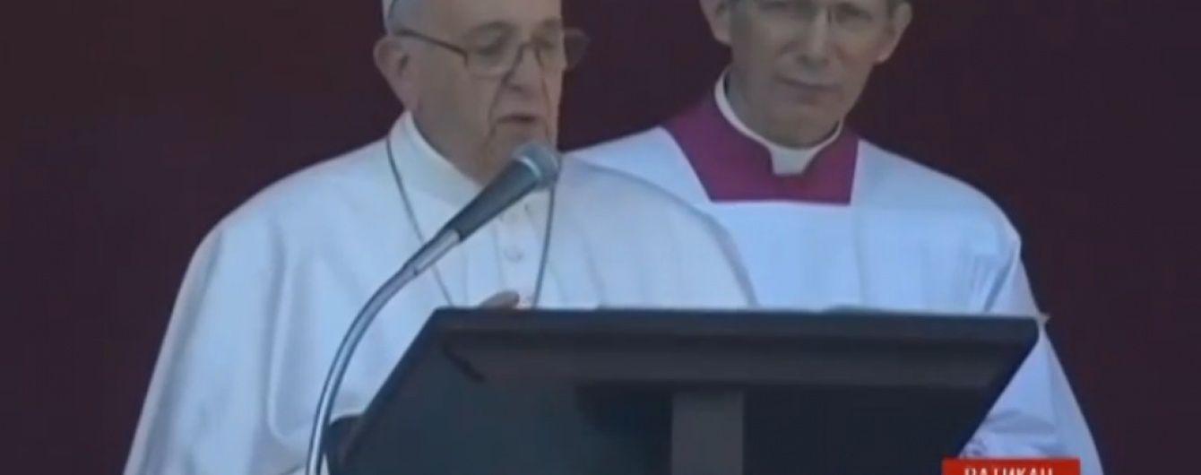 Папа Римський Франциск помолився за мир в Україні під час різдвяної промови