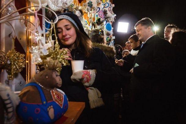 Родина Порошенків у повному складі з'явилася на ярмарку у Києві