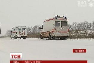 На Донеччині перекинулось авто з волонтерами: загинув 10-річний хлопчик