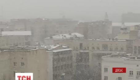 В Украину пришел мороз и гололедица