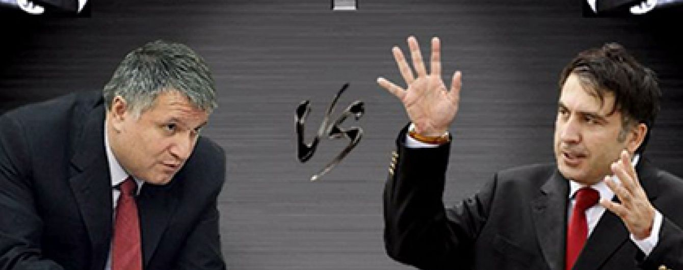 Відео бійки Саакашвілі і Авакова в стилі Mortal Kombat стало вірусним