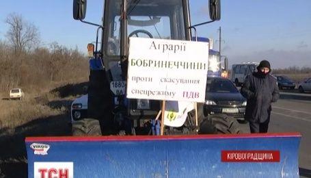 Трассу Кировоград-Николаев перекрыли фермеры Кировоградщины
