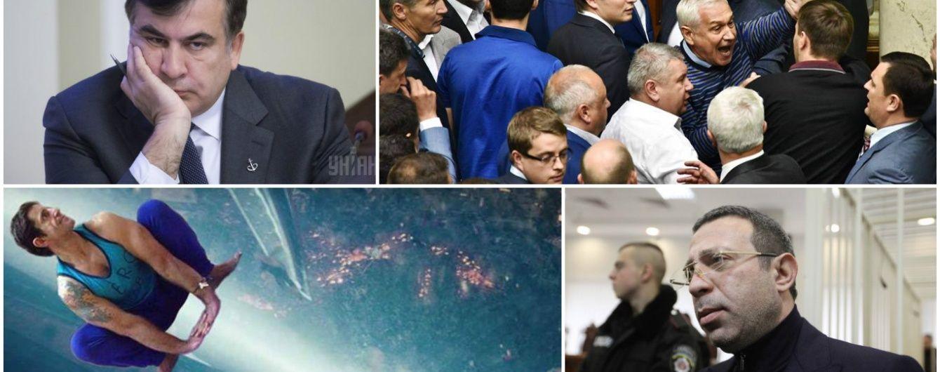 """Найгучніші скандали 2015 року: Людина-Шкіряк, """"склянка розбрату"""" Саакашвілі та справа Корбана"""