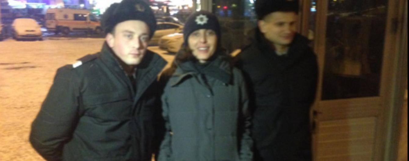 У новорічну ніч глава Нацполіції патрулювала центр Києва разом з копами (фото)