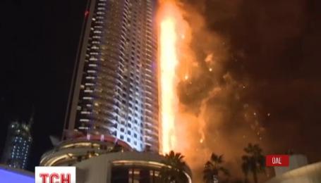 У Дубаї гасять пожежу на 63-поверховому хмарочосі, що спалахнув напередодні