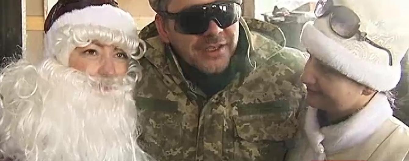 Як зустрічали Новий рік у найгарячіших точках у зоні АТО на Донбасі