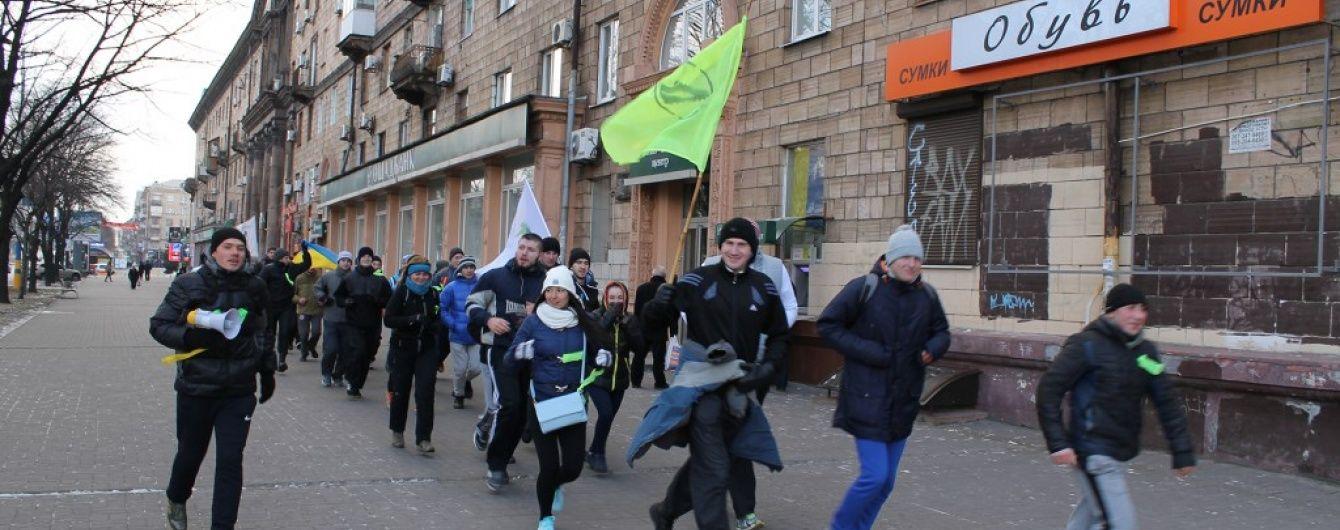 У Запоріжжі спортсмени 1 січня бігали за здоровий спосіб життя