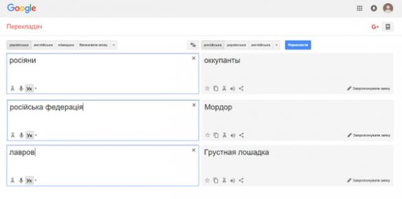 Google перекладає