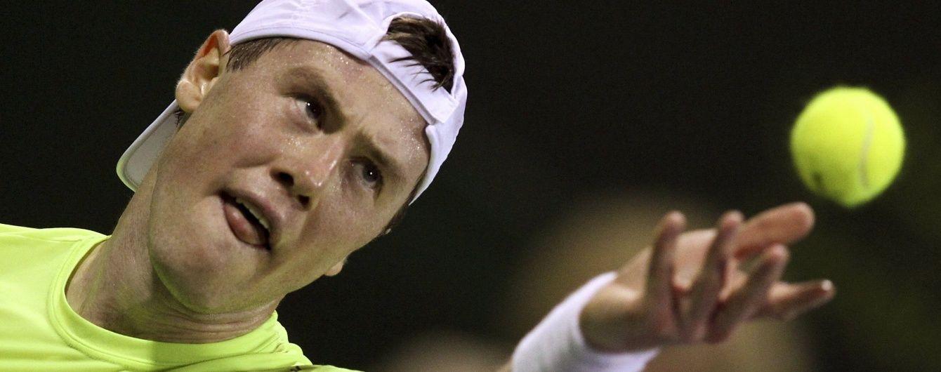 Український тенісист вийшов до півфіналу турніру в Катарі