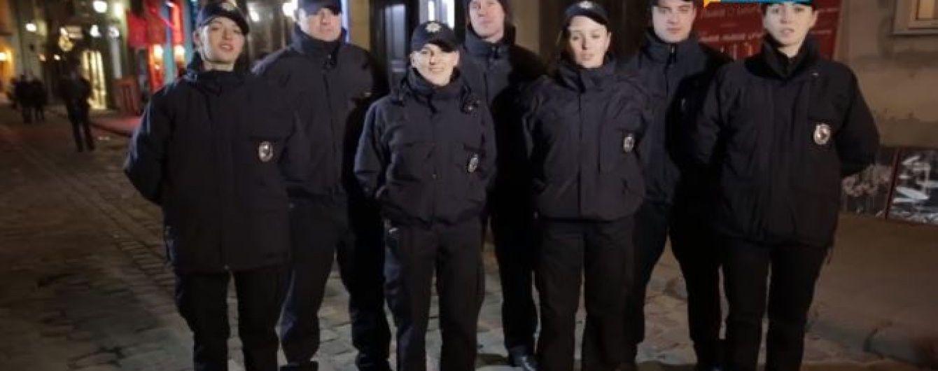Співоча львівська поліція привітала українців з Різдвом стародавньою колядкою