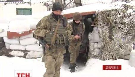 На Рождество украинские позиции обстреляли из минометов и гранатометов целый день