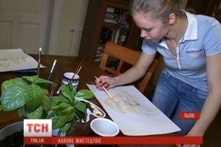 Львівська художниця створює незвичні картини з кави
