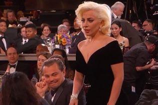 """""""Золотий глобус 2016"""": ДіКапріо розсмішив юзерів потішною реакцією на незграбну Леді Гагу"""