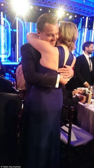 Кейт Вінслет та Леонардо ДіКапріо на Золотому глобусі 2016_4