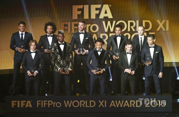 Золотий мяч 2015 церемонія_7, Команда року 2015 фіфпро