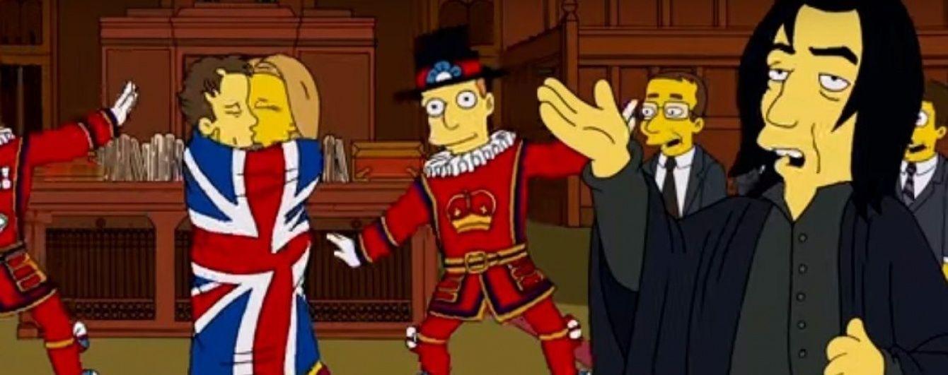 """""""Сімпсони"""" у новій серії вшанували померлих від раку Рікмана та Боуї"""