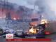 В Одесі півтори години горів ринок промислових товарів