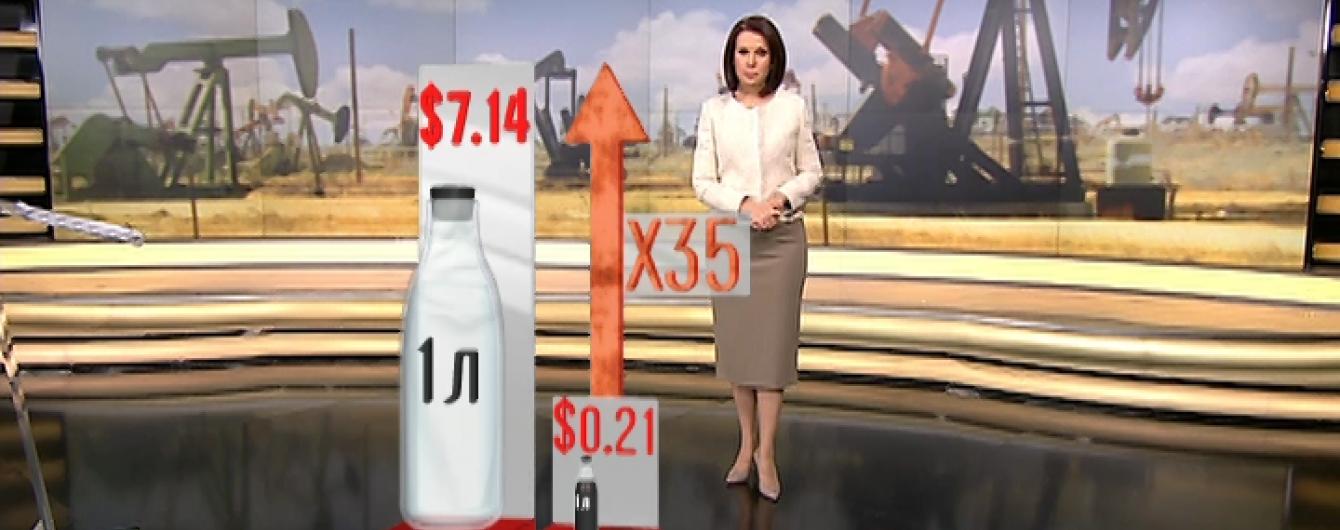 У Росії нафта стала дешевшою за горілку, молоко та воду