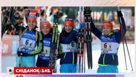 Украинские биатлонистки выиграли «золото» в эстафете Кубка мира