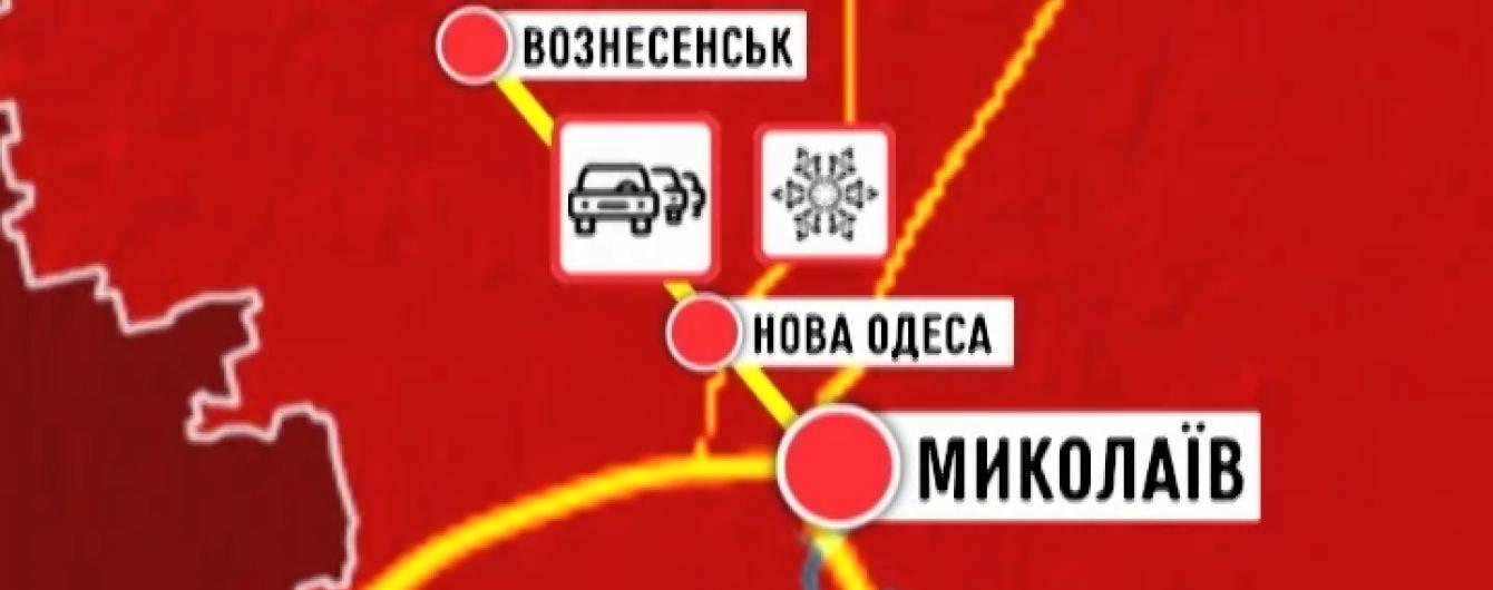 Українські водії розповідають про катастрофічну ситуацію на засніжених трасах