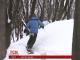 Київський сноубордист спустився зі схилу біля фунікулера