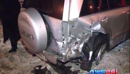 В Киеве хмельной водитель взял на таран целых пять машин