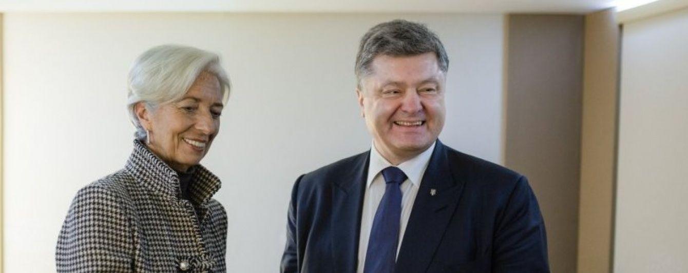 Після розмови Порошенка з Лагард МВФ вирішив розглянути питання про виділення траншу Україні