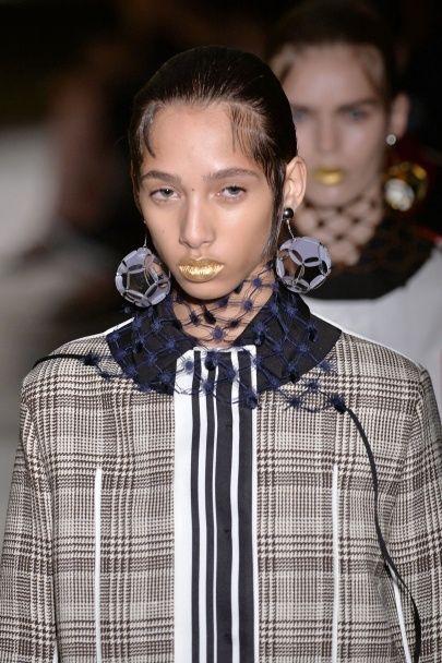 Клетка, полоска и сетка в коллекции Prada сезона весна-лето 2016