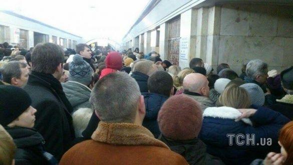 Затор у метро
