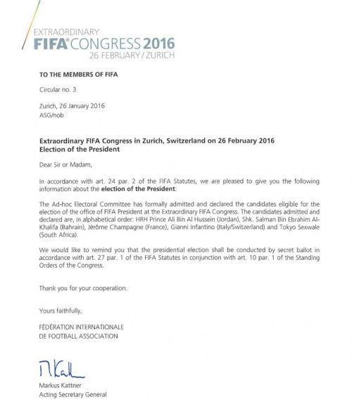 Документ ФІФА