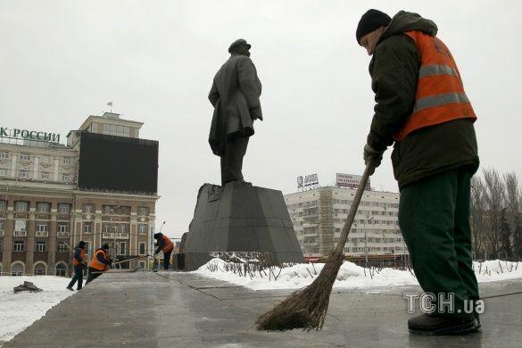 У Донецьку пошкодили Леніна_2