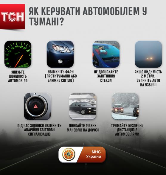 Як керувати машиною в тумані