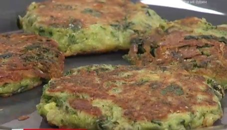 Рецепт зеленных оладий от Руслана Сеничкина