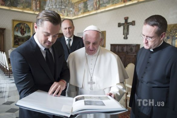 ДіКапріо та папа Римський_2