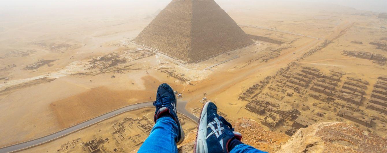 Єгипет на все життя заборонив в'їзд екстремалу, який заліз на піраміду