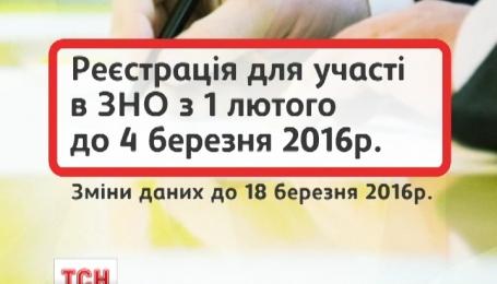 Реєстрація на участь у ЗНО починається вже з 1 лютого
