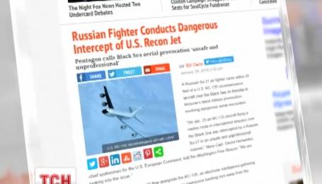 Российский Су-27 приблизился на опасное расстояние к самолету США