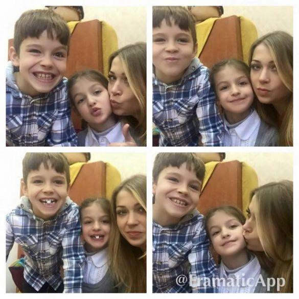 Кутепова з дітьми