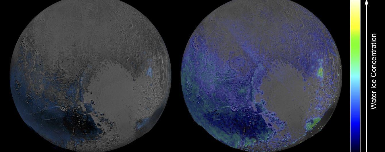 NASA показало льодяну карту Плутона