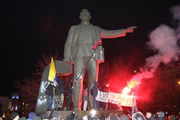 Демонтаж пам'ятника Петровському