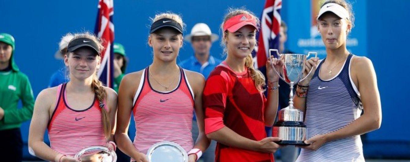 Юні українські тенісистки посіли друге місце в парному розряді Australian Open