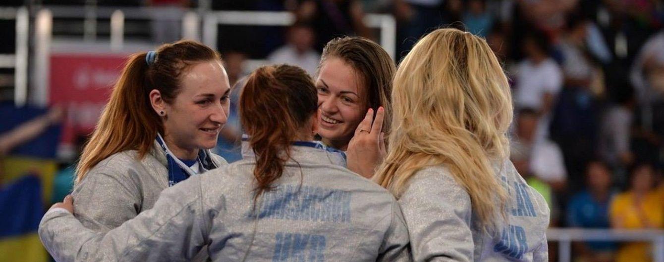 Українські шаблістки перемогли росіянок у фіналі грецького етапу Кубка світу