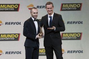 """Капітан """"Барселони"""" Іньєста визнаний найкращим спортсменом року в Іспанії"""