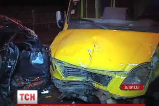 У Запоріжжі медики боряться за життя двох дітей, мати яких влетіла на авто в переповнену маршрутку