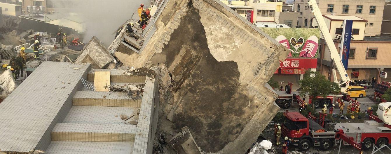 Кількість жертв землетрусу на Тайвані продовжує рости