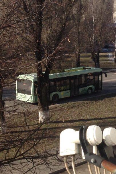 Первый украинский электробус проехал по улицам Львова