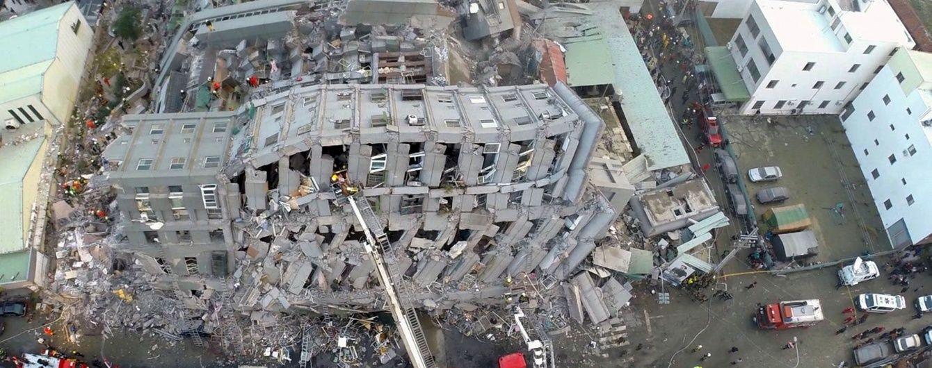 У Мережі показали відео наслідків потужного землетрусу на Тайвані з висоти пташиного польоту